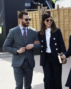 Jamie and Millie at the Cheltenham Festival today (Mar. 16, 2018) #jamiedornan #ameliawarner