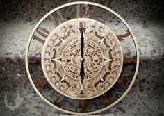 Wall clocks Aztec calendar by BijouVarni on Etsy