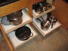 Kitchen Cabinet Sliding Shelves 1419 Wide by TheShelfStore on Etsy, $36.99