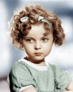 Shirley Temple, 1934. A distant cousin. Family archive has an illustration of her by BFJ. He thought Grace looked just like her. Grace & Shirley are the same age.