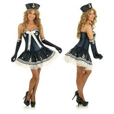 Navy Sailor Outfit 50s Pin Up Costume (1 of 2)