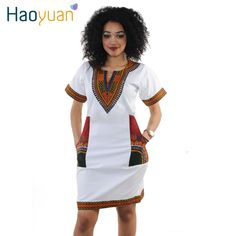 Dress v neck Casual African Print Dashiki Dress Women Summer Bodycon Dress Robe Sexy Casual Sundress Party Plus Size Clothing Vintage African Print Dashiki Dresses African Dresses For Women, African Wear, Summer Dresses For Women, African Fashion, Dress Summer, Tribal African, African Outfits, African Clothes, Dress Beach