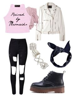 """""""BlackPink BoomBayah"""" by kawaiikpoptrash ❤ liked on Polyvore featuring WithChic, Caroline Constas, R13, Topshop and Boohoo"""