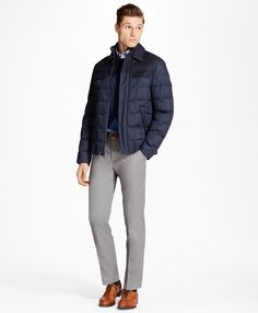 Mixed Media Jacket - Brooks Brothers