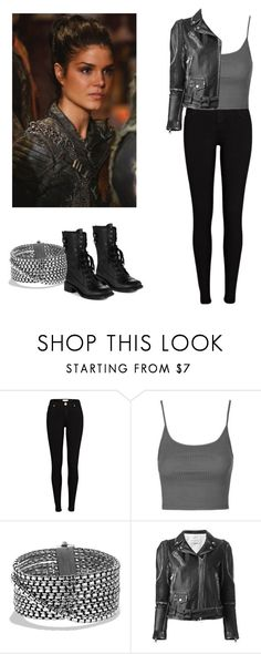 """""""Octavia Blake season 4 outfit - The 100"""" by shadyannon ❤ liked on Polyvore featuring River Island, Topshop, David Yurman and Sam Edelman"""