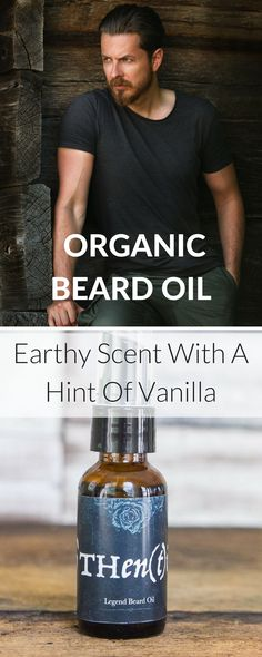 Handcrafted in small batches, this organic beard oil will condition and add luster to your facial fleece. Made with organic jojoba oil, sunflower oil, non GMO vitamin E and Patchouli, lavender essential oils, and vanilla. Paraben and  additive free. Explore men's grooming products at https://www.othentik.co/collections/men/products/legend-beard-oil-for-men