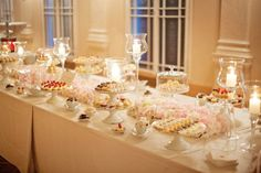 small cocktail and dessert bar photos | dessert tables wedding dessert table loaded with goodies photography ...