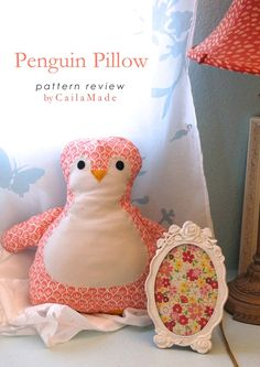 Penguin Pillow, Owl Purse, and a Gingercake Patterns Giveaway!