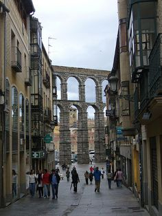 Segovia, Spain - View on the aqueduct