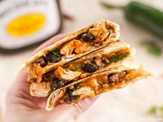 These Ultimate BBQ Chicken Quesadillas are packed with colorful ingredients and deliciously tangy BBQ sauce! Step by step photos.