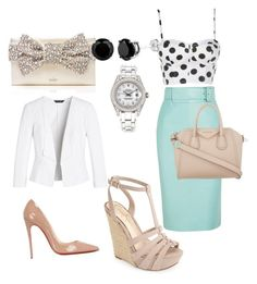 """""""Day to evening"""" by diorartist on Polyvore featuring Jessica Simpson, Balenciaga, Kate Spade, Givenchy, White House Black Market, Christian Louboutin and Rolex"""