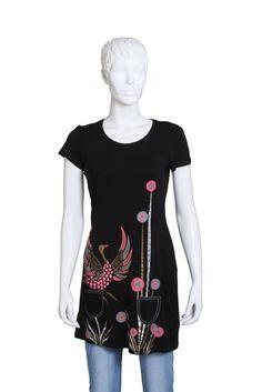 Women's Casual T-Shirt in Black -  w11exwt031