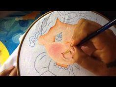 Pintura en tela niña melon # 1 con cony - YouTube