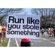 nice sign but I think it would ba a pain to run with