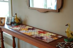 ! Sew we quilt: It's a runner month and with Petra....she is ready with a Plus Quilt