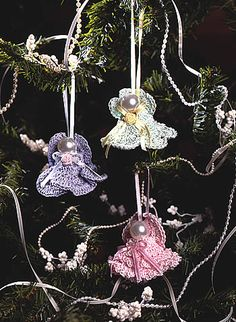 Christmas in July – Lovely Crochet Angels – 14 free patterns – Grandmother's Pattern Book – Christmas in July!