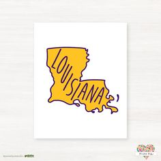 Louisiana State University - LSU - Geaux Tigers-Baton Rouge Louisiana Typography State Print Giclée by PaintedPost
