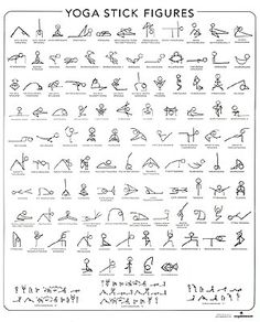 yoga poses in stick figures. maybe print out and pin it up in my room.
