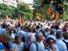 Gent a la manifestació de Berga