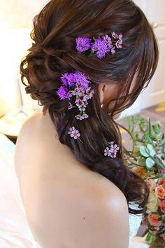 Gorgeous Blooming Wedding Hair Bouquets ❤ See more: http://www.weddingforward.com/blooming-wedding-hair-bouquets/ #weddingforward #bride #bridal #wedding