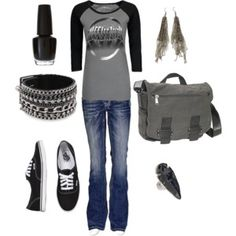 Converses and a comfy band tee? Definately my style