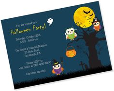 Super cute Halloween Party Invitation from My Paper Garden on Etsy www.etsy.com/shop/MyPaperGardenLLC
