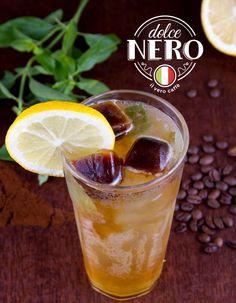 Exclusiva Soda Dolce Nero com gelos de café, limão siciliano e manjericão, só na Dolce Nero Cafés! #dolcenerocafes #ilverocaffe #sodadolcenero #floripa #coffeeshop
