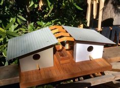 Mid-century modern birdhouses channel Eichler and Frank Lloyd ...
