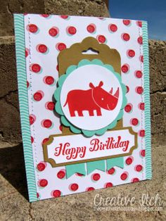 Creative Itch: Another 'Zoo Babies' Card! Stampin' Up!
