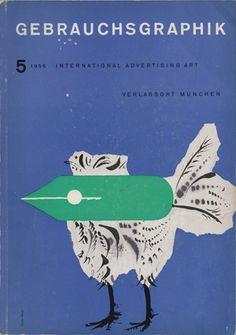 Covers from Gebrauchsgraphik magazine  Title: Jan Tschichold