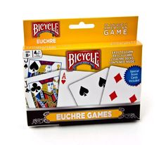 Bicycle Euchre Games Playing Cards, Euchre Bicycle Playing Cards, New Bicycle Cards, Bicycle Playing Cards, Canasta Game, Gin Rummy, Suit Card, Playing Card Games, Japan Games, Kids Bicycle, Mario Kart