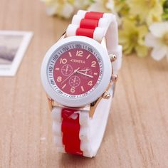 Double Color Silicone Fashion Watch