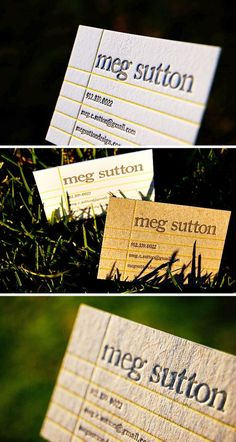 College Ruled + Edge Painted Business Cards