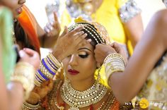 beautiful real Indian bride in NYC