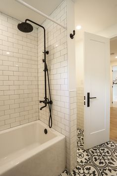 A Recent Bathroom Remodel Done By White House Designs When Using Bold Pattern On