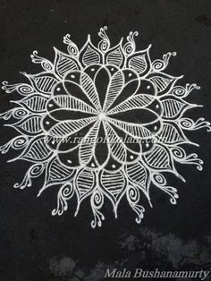 Today thoughts of kolam....... Enjoy the little things in life because one day you will look back and realize they were the big things Freehand style kolam done by Mala Bushanamurty