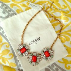J. Crew Necklace FLASH SALE! J. Crew factory statement necklace, jewelry bag included! J. Crew Jewelry Necklaces