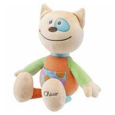 Peluche Gato Chicco - colorido e simpático, este peluche será o melhor amigo do seu bebé!