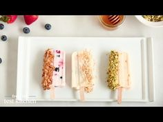 Fruit and Yogurt Breakfast Popsicles - From the Test Kitchen - YouTube
