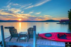 Sunset over Lake Winnipesaukee, New Hampshire courtesy Edward Phelps Grace III. Soap Company, White Mountains, Waterfront Homes, Lake Life, New Hampshire, State Parks, New England, Places To Go, Vacation