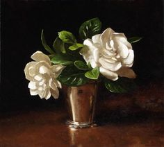 Gardenias in Silver by Sarah Lamb
