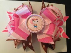 Sheriff Callie Hair Bow 5 inch boutique style by OwlMamaBoutique