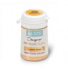 Χρώμα Σκόνη Squires Kitchen Μεταλλική Χρυσή 5gr