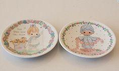 1992 Vintage Precious Moments Ceramic Collectors Mini Plates