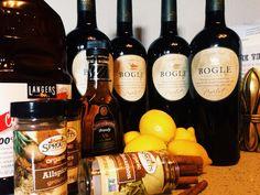 Holiday Wine Wassail Recipe  Ingredients:: 4 Bottles Red Wine 5 Tbsp Brandy 1 C Cranberry Juice 8 Lemons 1/2 C Sugar 1 Tbsp All Spice 1 Tbsp Ground Cloves 4 Cinnamon Sticks