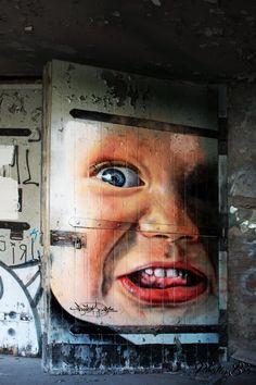 Adnate - Australian Street Artist - Berlin - 2013 #adnate #streetart