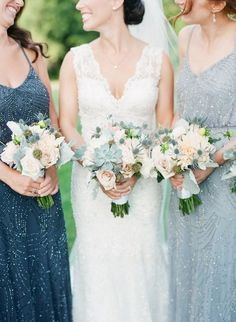 Wedding Bouquets : Picture Description Can you say gorgeous? Peach and light blue wedding bouquets: www.stylemepretty… Photography: Angela Newton Roy – angelanewtonroy.c… - #Bouquets https://weddinglande.com/accessories/bouquets/wedding-bouquets-can-you-say-gorgeous-peach-and-light-blue-wedding-bouquets-www-stylemepretty/
