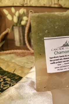 Chamomile & Oats Cleansing Soap Bar  by CascadeMountainSoaps