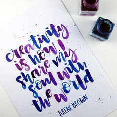 """""""I'm a little behind on my contributions to but am loving seeing all of yours. And loving seeing all the lovely ones who have signed up…"""" Calligraphy Quotes Doodles, Brush Pen Calligraphy, How To Write Calligraphy, Calligraphy Letters, Brush Lettering, Caligraphy, N Logo Design, Lettering Design, Writing Quotes"""