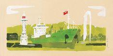 Greenea Carte de vœux 2019 - Jordan Graphic La Rochelle France, Illustrations, Jordan, Graphic, Creations, Greeting Card, Cards, Illustration, Illustrators